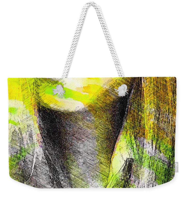 Girl Weekender Tote Bag featuring the mixed media Little China Girl by Steve K