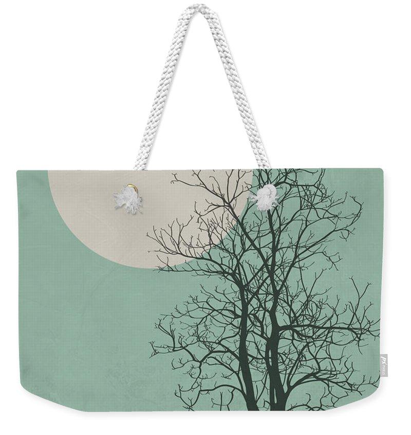 Tree Weekender Tote Bag featuring the digital art Lonely Tree II by Naxart Studio