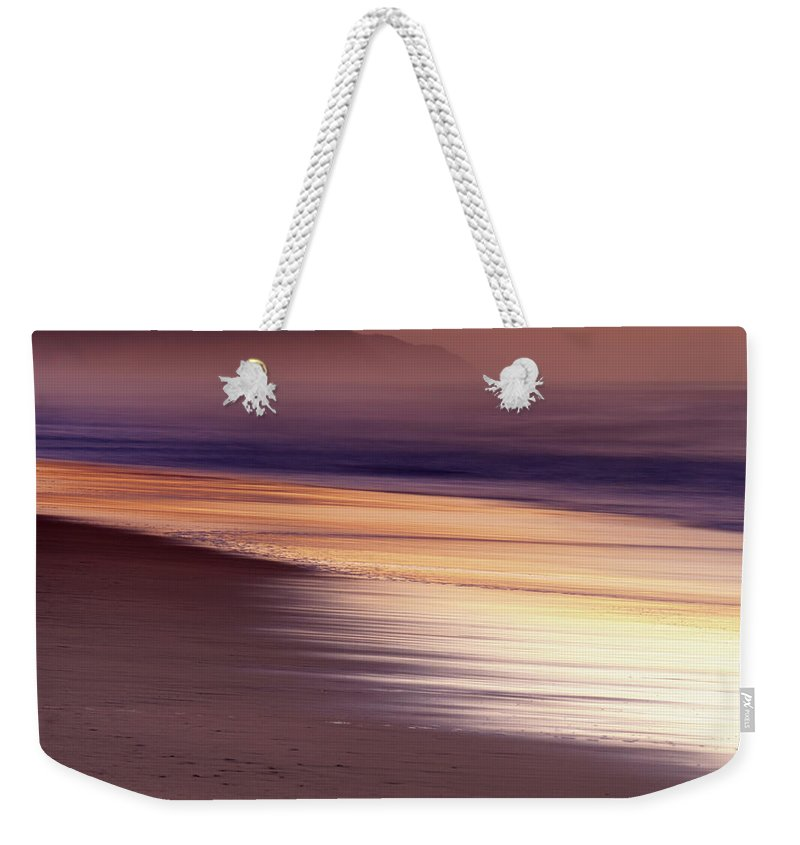 Tranquility Weekender Tote Bag featuring the photograph Long Exposure Of Water At Dawn With by Emil Von Maltitz