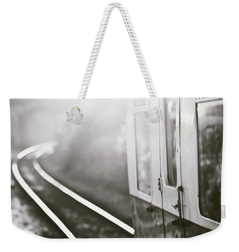 Train Weekender Tote Bag featuring the photograph Long Train Running by James Homer