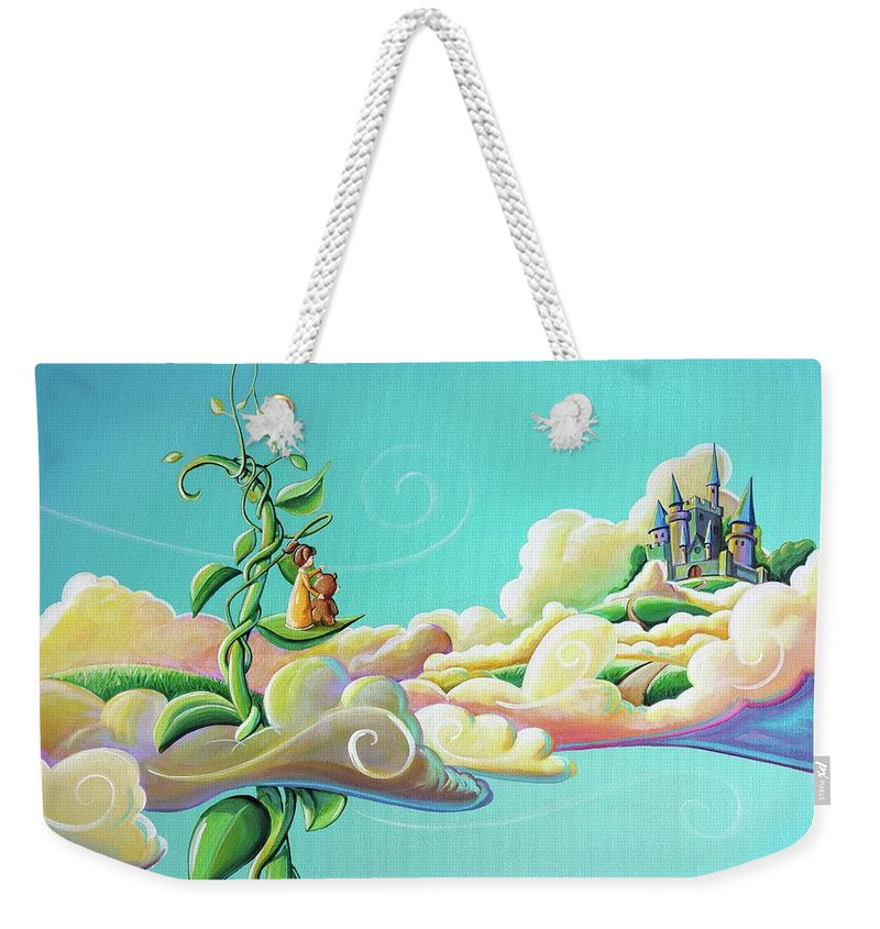 Fairytale Weekender Tote Bag featuring the painting Looking For Jack by Cindy Thornton