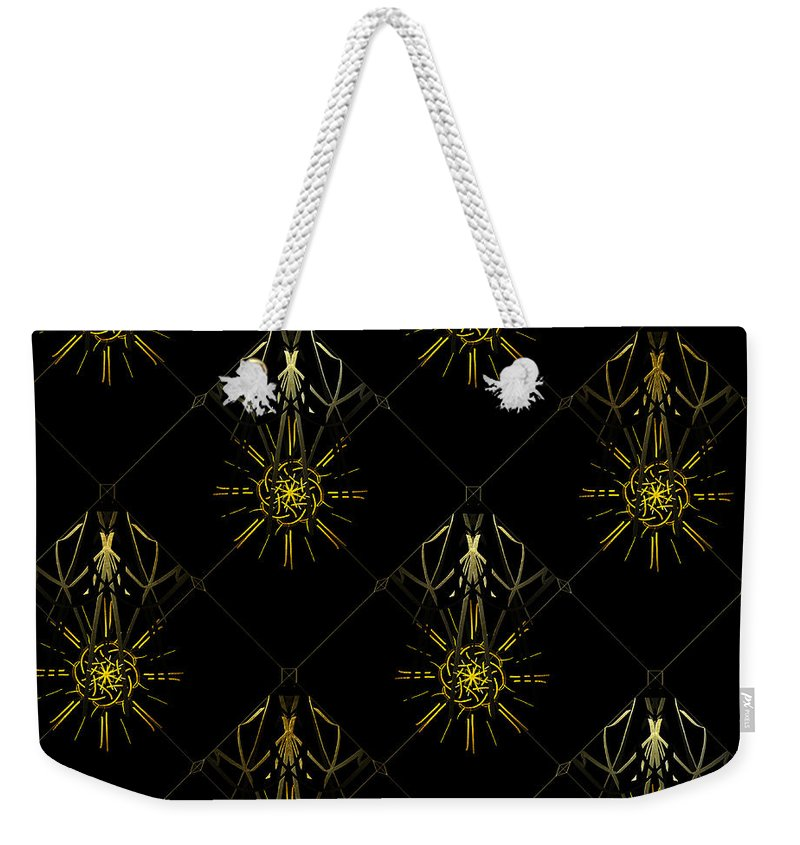 Art For Interior Design Weekender Tote Bag featuring the digital art Luz De Media Noche by Dalia Art Store