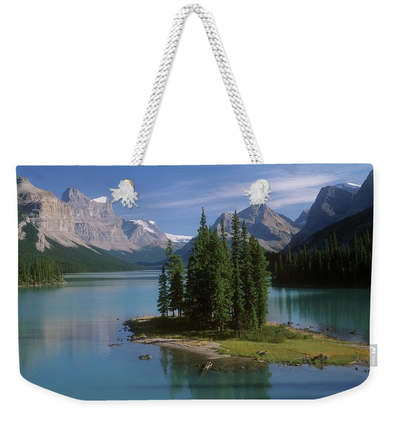 Tranquility Weekender Tote Bag featuring the photograph Maligne Lake, Jasper National Park by Design Pics/bilderbuch