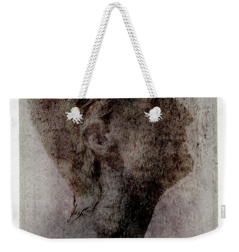 Mature Adult Weekender Tote Bag featuring the photograph Man Looking Up, Side View by Win-initiative