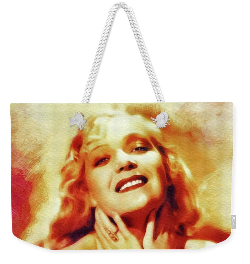 Martha Weekender Tote Bag featuring the painting Martha Eggerth, Vintage Actress by John Springfield