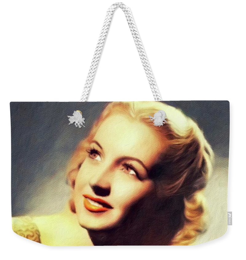 Martha Weekender Tote Bag featuring the painting Martha Tilton, Music Legend by John Springfield