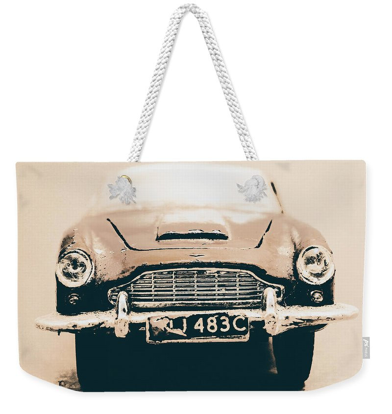 Aston Martin Weekender Tote Bag featuring the photograph Martin Miniature by Jorgo Photography - Wall Art Gallery