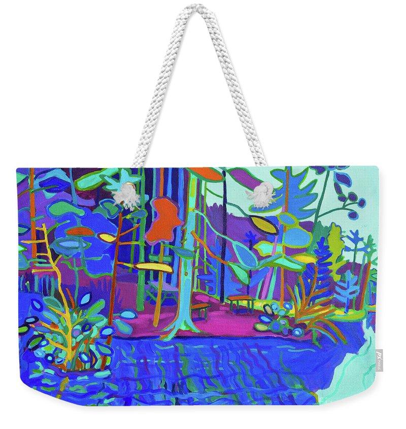 Massapoag Weekender Tote Bag featuring the painting Massapoag Point by Debra Bretton Robinson