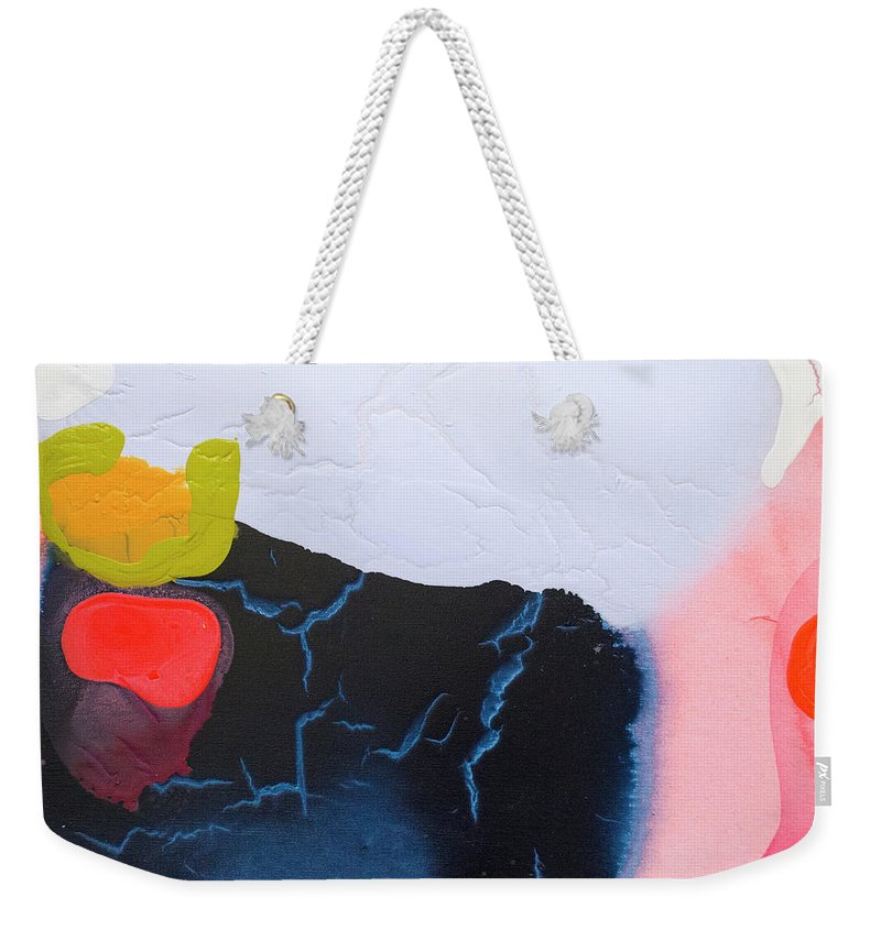 Abstract Weekender Tote Bag featuring the painting Maya 01 by Claire Desjardins