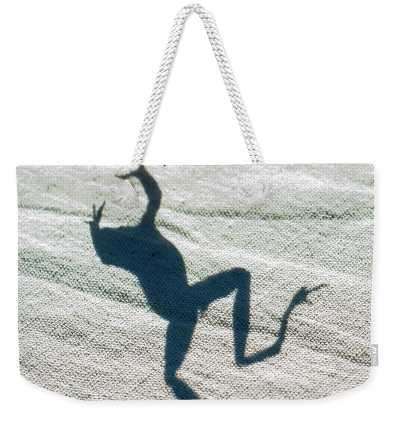 Shadow Weekender Tote Bag featuring the photograph Me And My Shadow by J. Ronald Lee
