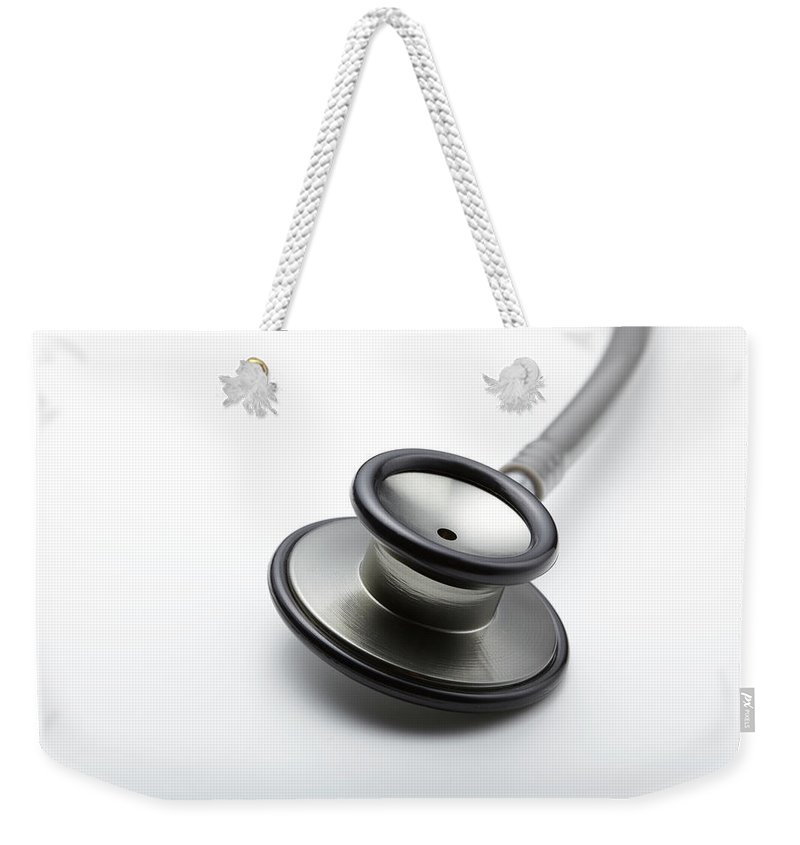 White Background Weekender Tote Bag featuring the photograph Medical by Yuji Kotani