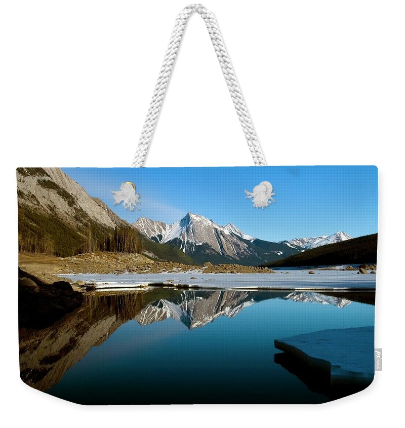 Scenics Weekender Tote Bag featuring the photograph Medicine Lake, Jasper National Park by Design Pics/richard Wear