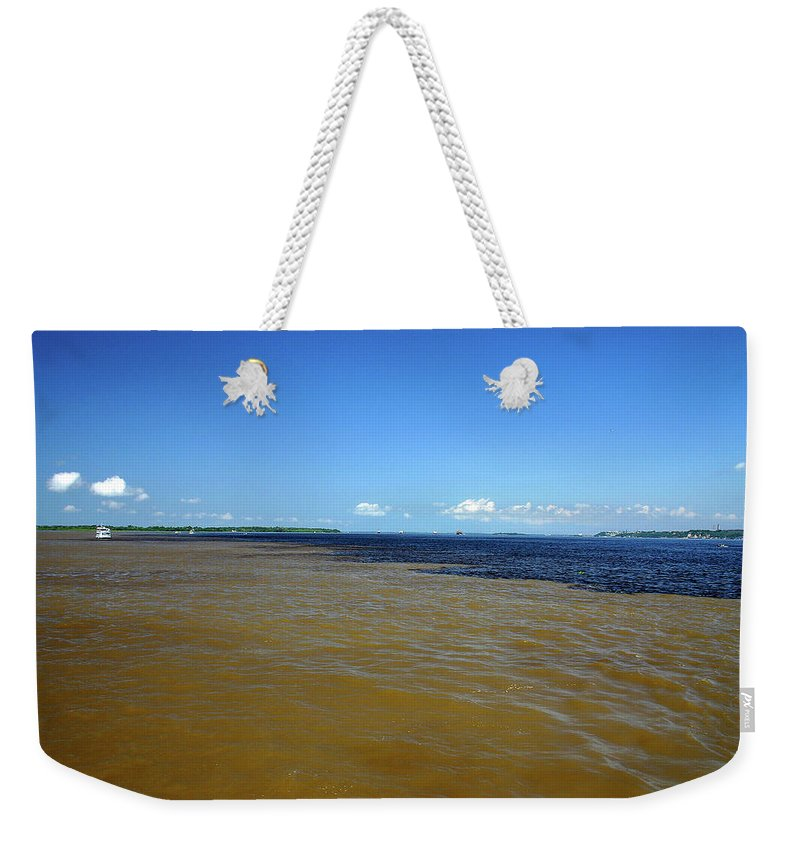 Scenics Weekender Tote Bag featuring the photograph Meeting Of Waters by Eduardo Bassotto