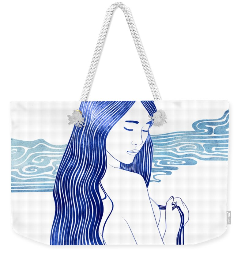 Melite Weekender Tote Bag featuring the mixed media Melite by Stevyn Llewellyn