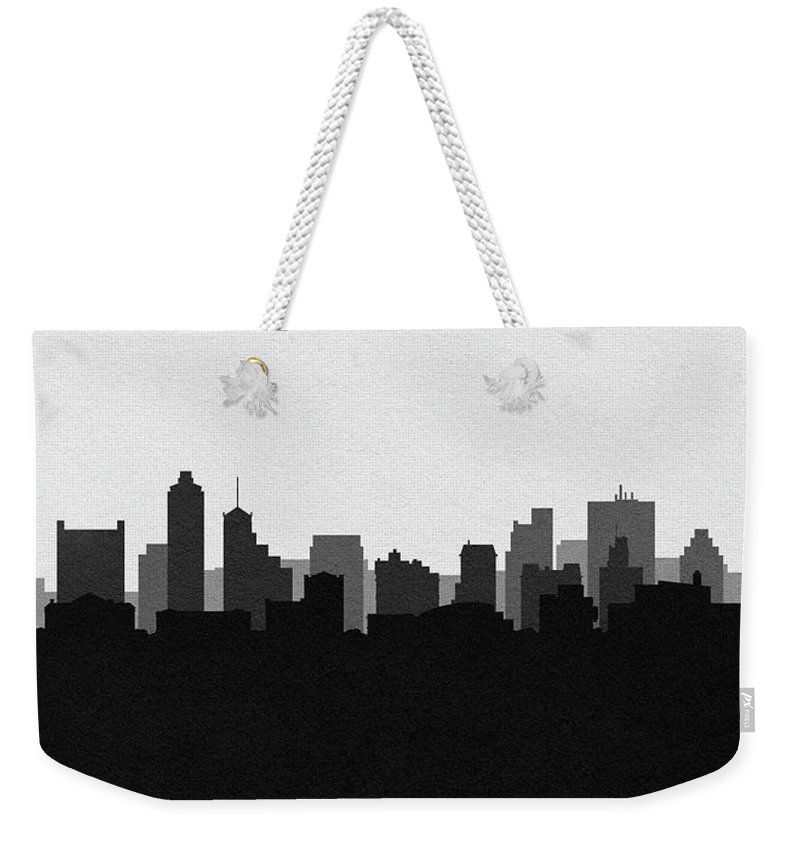 Memphis Weekender Tote Bag featuring the photograph Memphis Cityscape Art V2 by Inspirowl Design