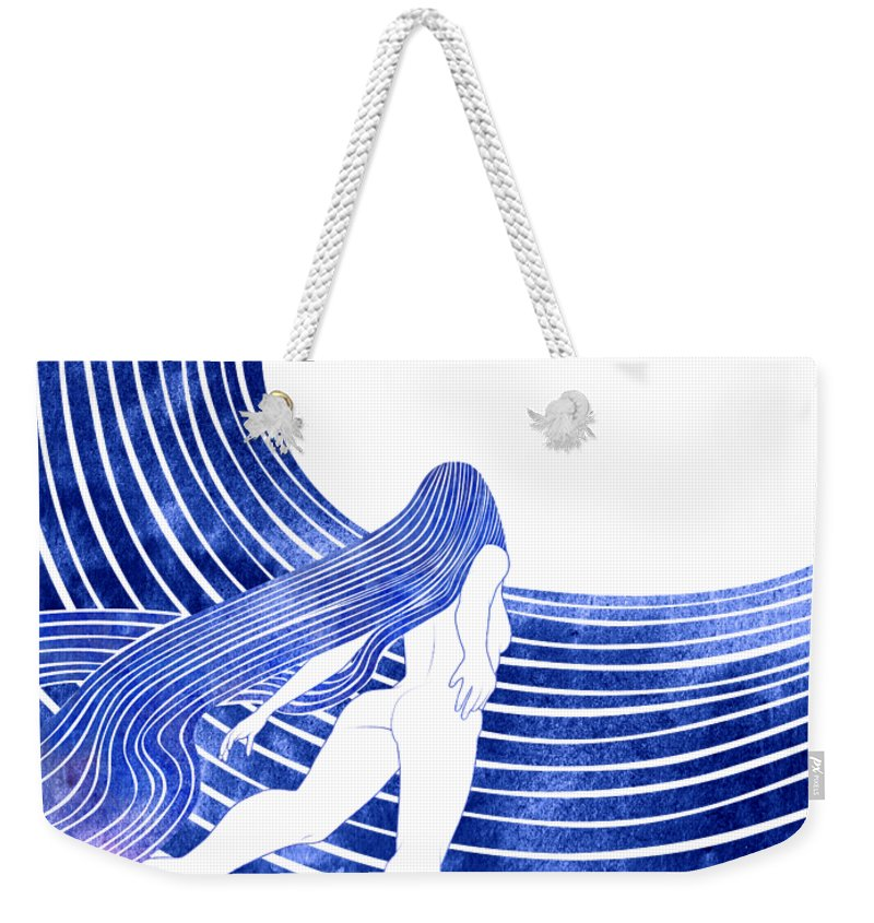 Aqua Weekender Tote Bag featuring the photograph Menippe by Stevyn Llewellyn