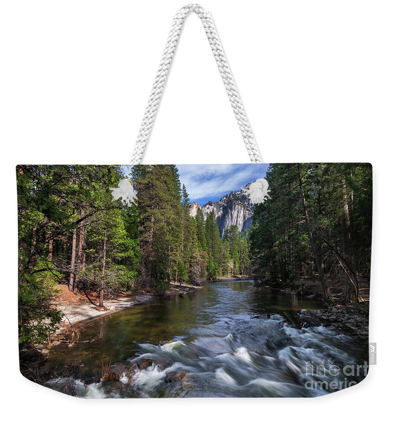 Merced River Weekender Tote Bag featuring the photograph Merced River, Yosemite National Park by Yefim Bam