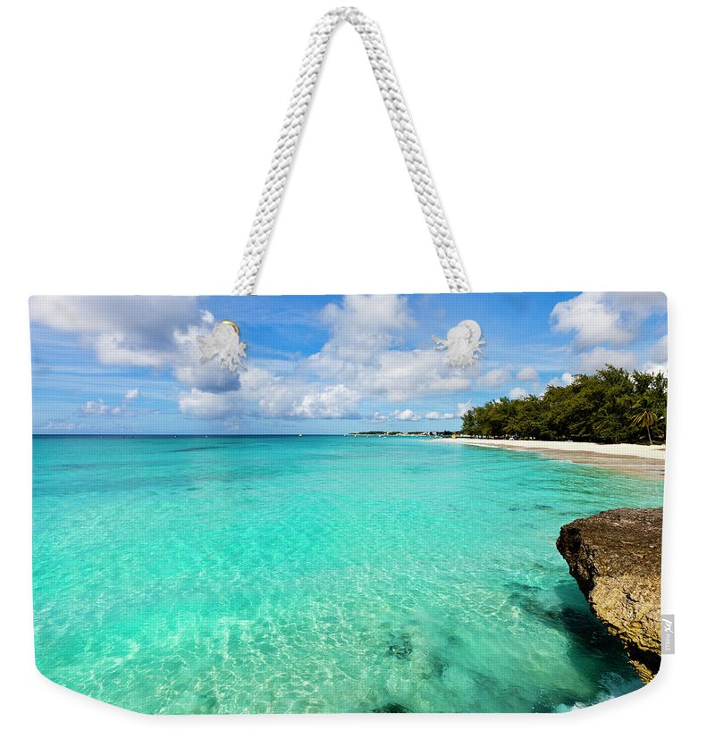 Water's Edge Weekender Tote Bag featuring the photograph Miami Beach, Barbados by Flavio Vallenari
