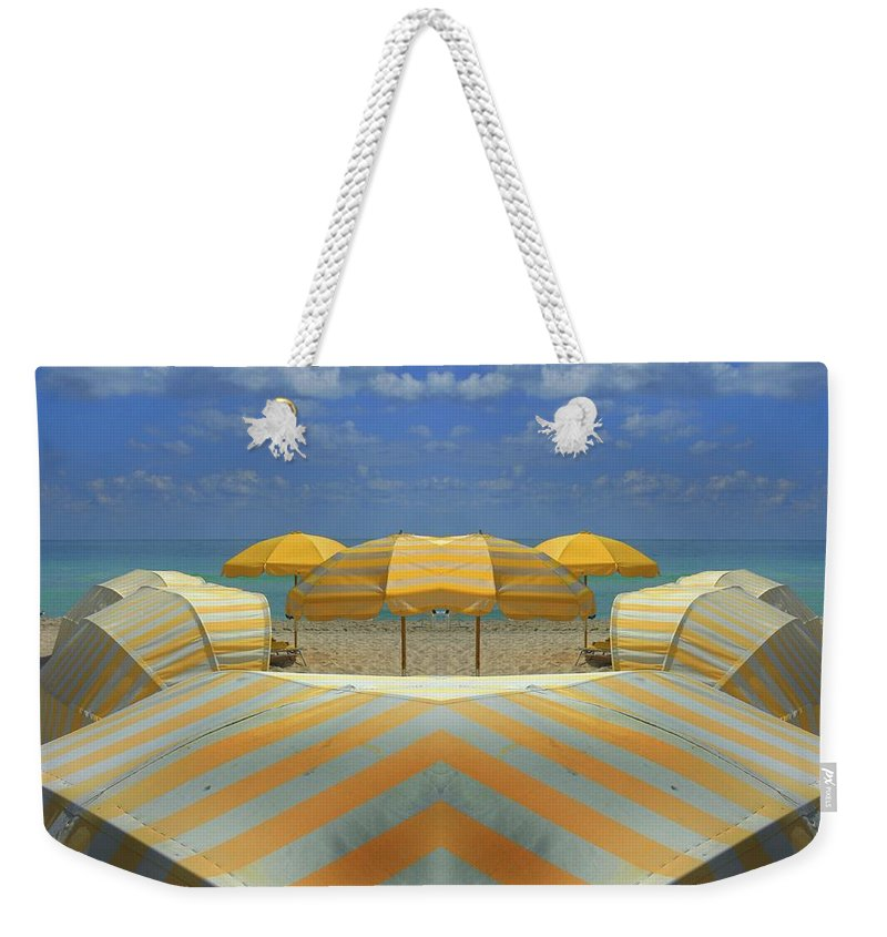 Tranquility Weekender Tote Bag featuring the photograph Miami Mirror Beach by Elido Turco Photographer