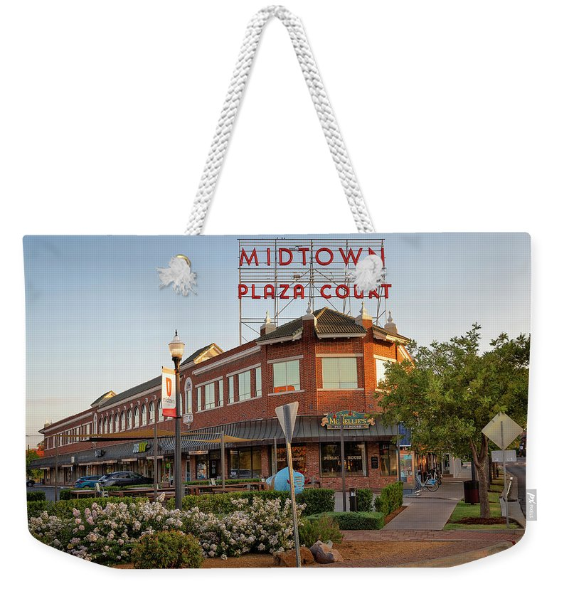 Okc Weekender Tote Bag featuring the photograph Midtown Plaza 4 by Ricky Barnard