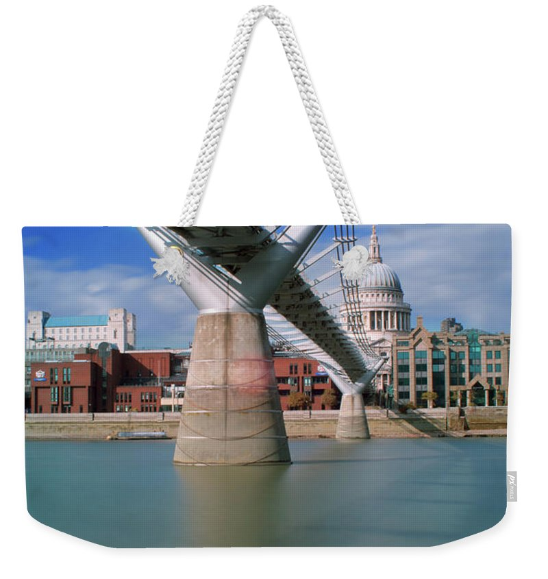 London Millennium Footbridge Weekender Tote Bag featuring the photograph Millenium Bridge by Gavin Parsons