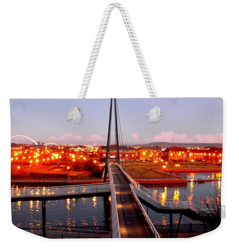 Office Weekender Tote Bag featuring the photograph Millenium Footbridge, Stockton-on-tees by Picture By Paul Walker