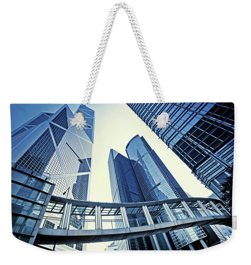 Corporate Business Weekender Tote Bag featuring the photograph Modern Office Buildings by Nikada
