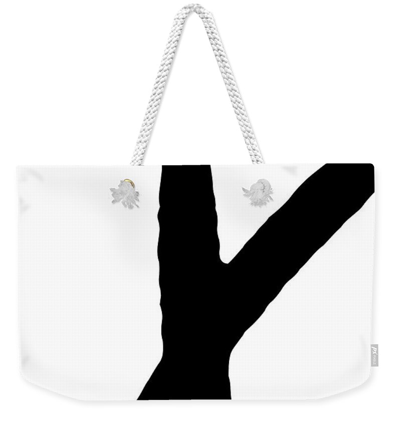 Valentines Weekender Tote Bag featuring the digital art Modern X's And O's I by Sd Graphics Studio