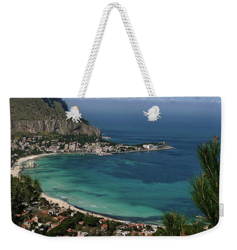 Scenics Weekender Tote Bag featuring the photograph Mondello Mare E Cielo by Foto Pietro Columba