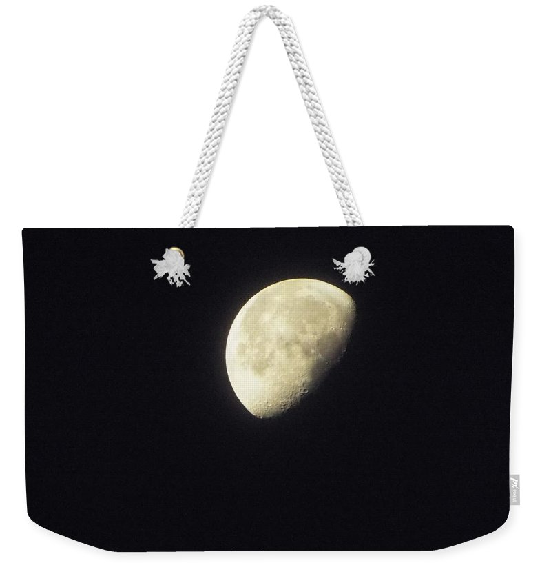 Weekender Tote Bag featuring the photograph Moon by James Harris