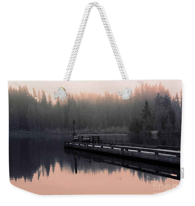 Trees Weekender Tote Bag featuring the photograph Morning March by Jean OKeeffe Macro Abundance Art
