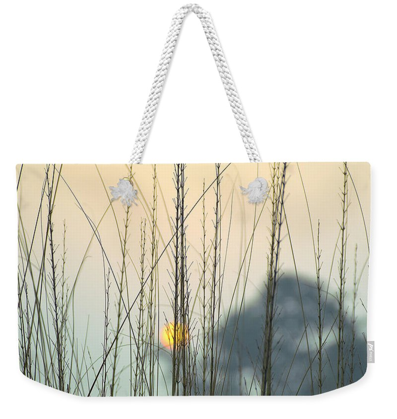 Landscape Weekender Tote Bag featuring the photograph morning Star by Ravi Bhardwaj