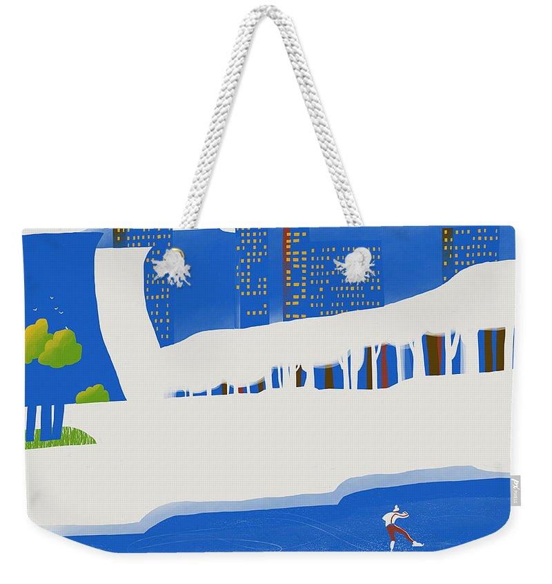 People Weekender Tote Bag featuring the digital art Moscow December by Sergey Maidukov