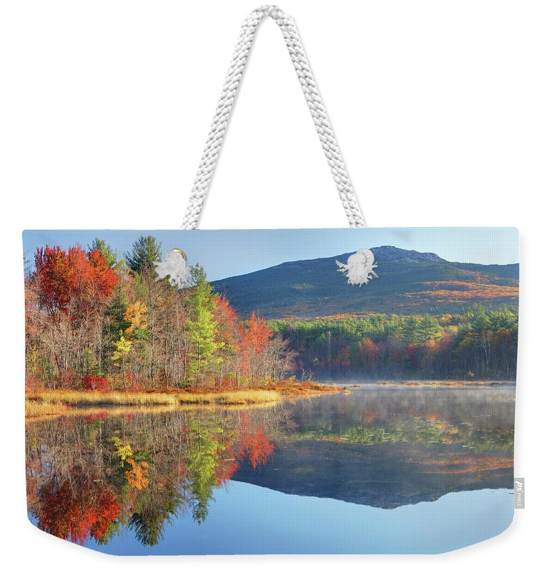 Scenics Weekender Tote Bag featuring the photograph Mount Monadnock In Autumn by Denistangneyjr