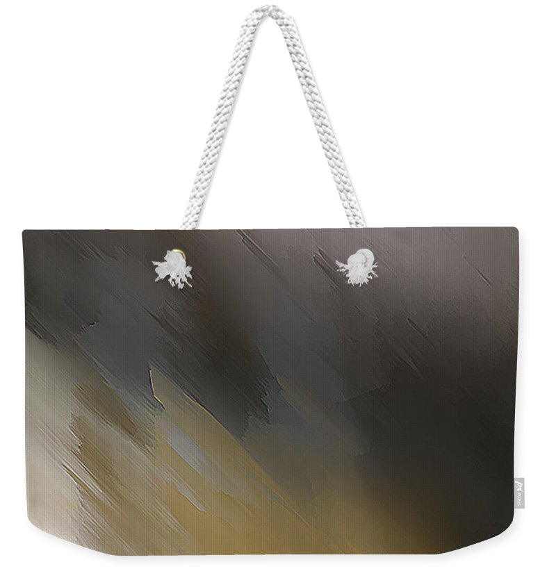 John Emmett Weekender Tote Bag featuring the painting Mountain by John WR Emmett
