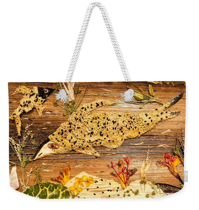 Fish Live Weekender Tote Bag featuring the mixed media Movement Of Life by Suma Parveen