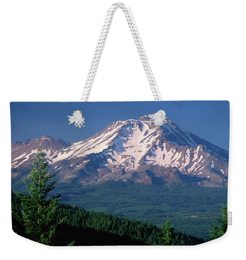 Toughness Weekender Tote Bag featuring the photograph Mt Shasta Across Lake Siskiyou, Mt by John Elk Iii