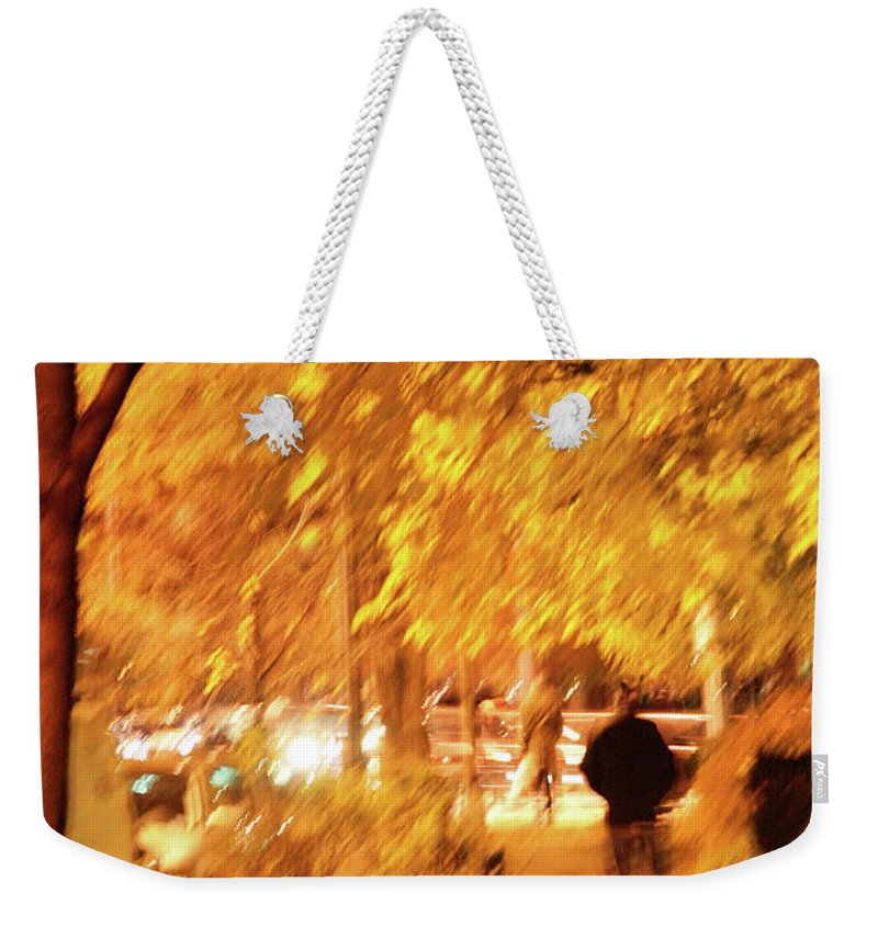 Blur Weekender Tote Bag featuring the photograph My Blurred World by Cora Wandel