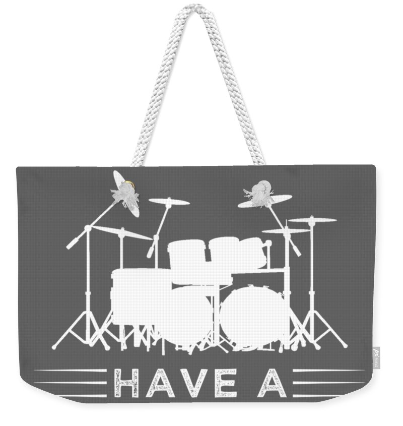 My Drinking Friends Weekender Tote Bag featuring the digital art My Drinking Friends Have A Drummer Problem Tee by Do David