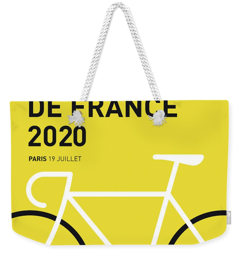 2020 Weekender Tote Bag featuring the digital art My Tour De France Minimal Poster 2020 by Chungkong Art