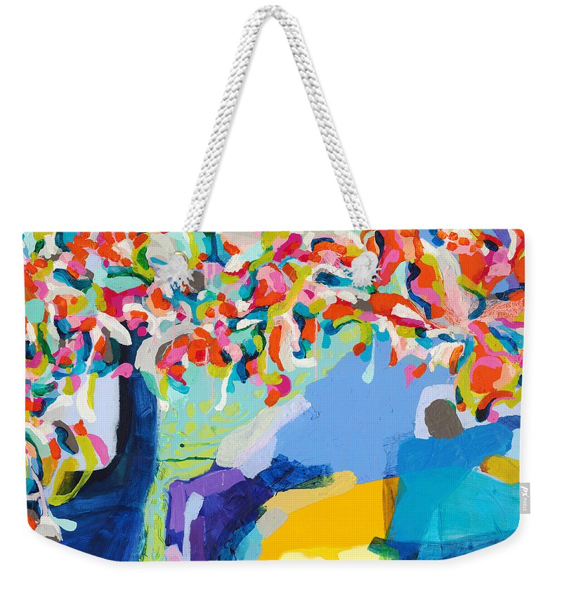 Abstract Weekender Tote Bag featuring the painting My Vanity by Claire Desjardins