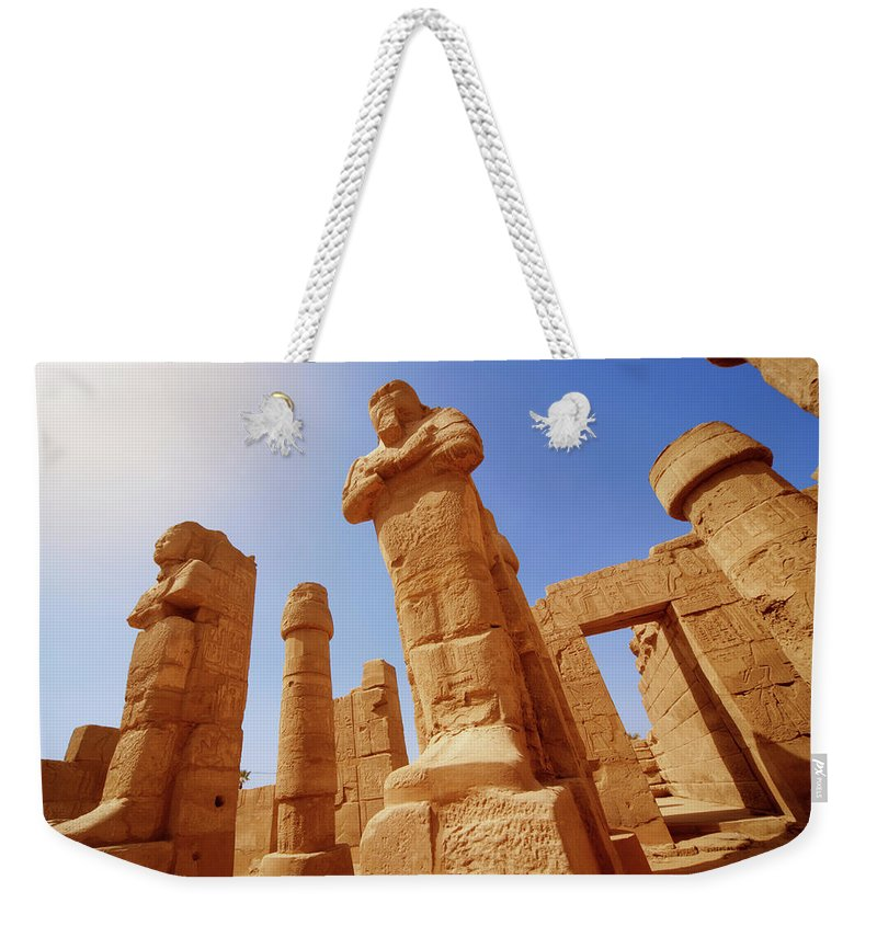 Art Weekender Tote Bag featuring the photograph Mysterious Ancient Temple Ruins In Egypt by Fds111