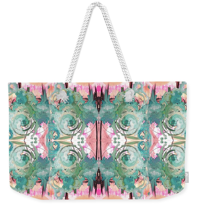Pattern Weekender Tote Bag featuring the painting Mysterious Tuesday by Jordan Harcourt-Hughes