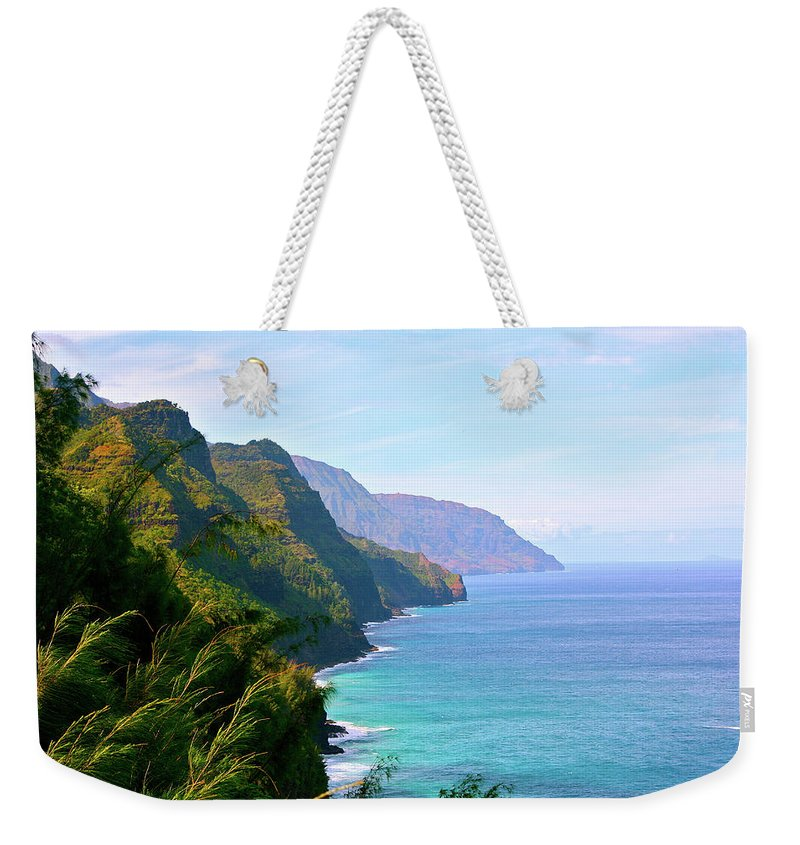 Nā Pali Coast State Park Weekender Tote Bag featuring the photograph Napali by Sean M. Murphy Photography