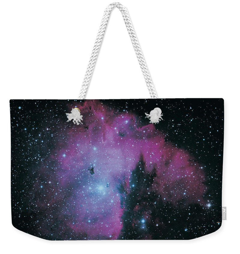 Purple Weekender Tote Bag featuring the photograph Nebula by Digital Vision.
