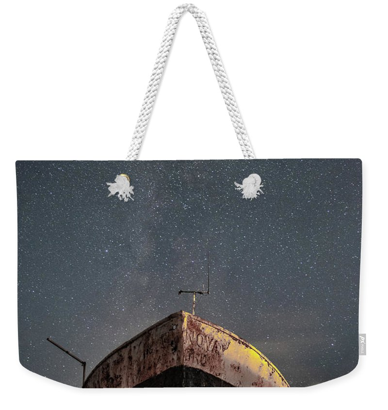 Milkyway Weekender Tote Bag featuring the photograph New Life Milkway by Mark Mc neill