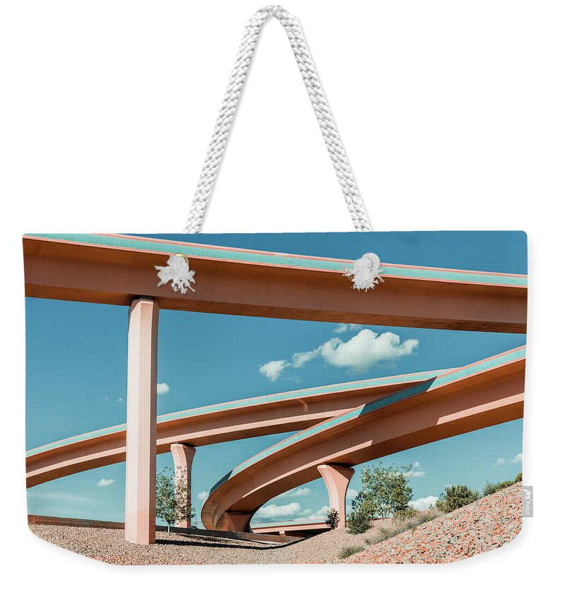 Autobahn Weekender Tote Bag featuring the photograph New Mexico Albuquerque Interstate by Mlenny