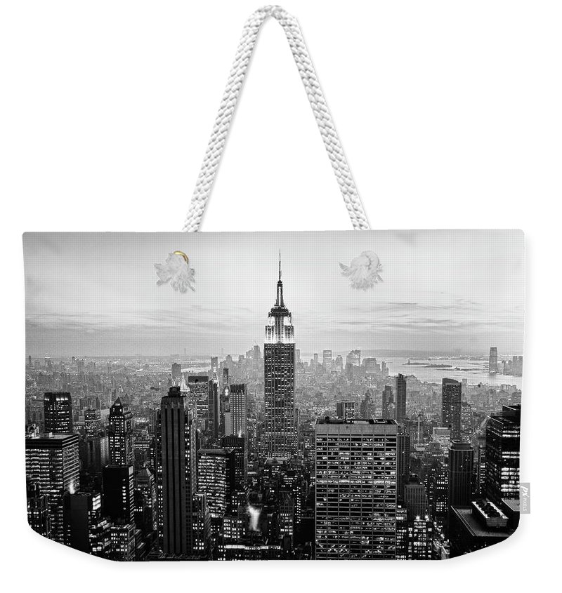 Outdoors Weekender Tote Bag featuring the photograph New York City by Randy Le'moine