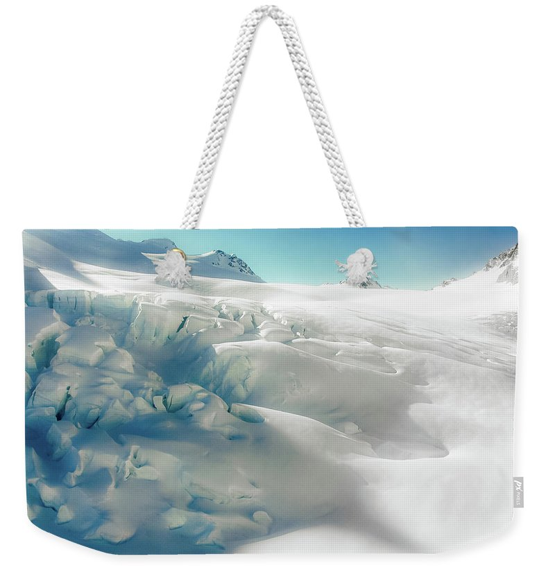 Cold Temperature Weekender Tote Bag featuring the photograph New Zealand - Dreamy Glacier Landscape by Agnieszka Bachfischer