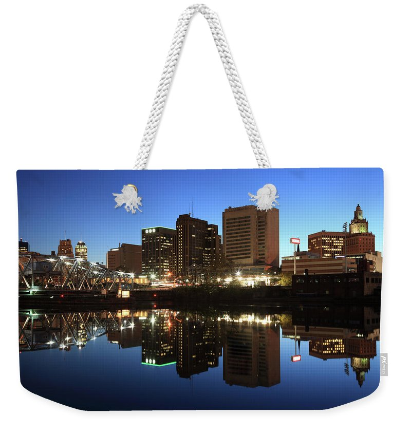 Clear Sky Weekender Tote Bag featuring the photograph Newark, New Jersey by Jumper